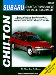 subaru 1985 92 chiltons repair manuals pdf books to read online
