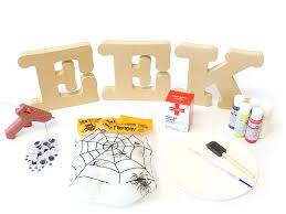 how to make eek halloween standing wood letters diy