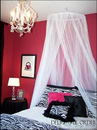 Girls Pink And Black Bedding by Pink Zebra Room Ideas For Teens The Bed Canopy Came From Bed