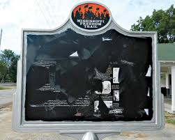 historical marker of civil rights icon emmett till vandalized in