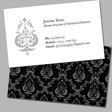 Home Staging Interior Design Business Card Jennie Yang Home Staging Interior Design Lyck