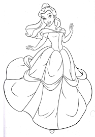 disney princess belle coloring pages princess rae pinterest