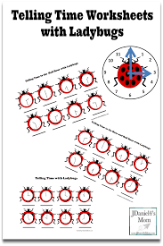 telling time worksheets with ladybugs pinterest png