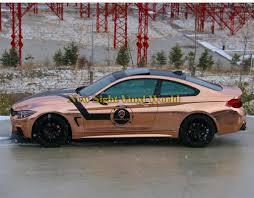 range rover rose gold best quality flexible mirror chrome rose gold vinyl car body wrap