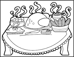 pleasant thanksgiving feast coloring pages thanksgiving dinner