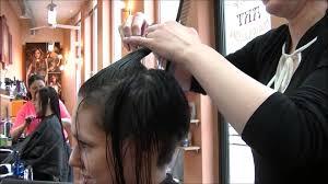 Frisur Lange D Ne Haare by Follow Me Around Friseur Haare Lang Nach Kurz
