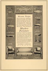 Bachman Furniture Milwaukee by 1910 Ad Mayhew Milwaukee Furniture Mentmore Chair Table Original