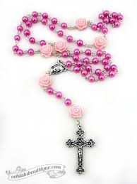 pink rosary 134 best handmade rosaries chaplets images on
