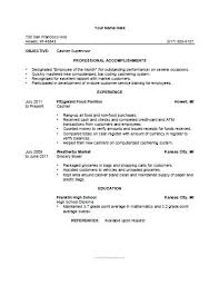 example of cashier resume resume example and free resume maker