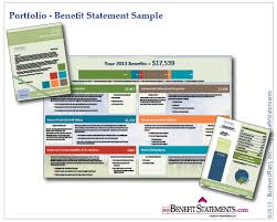 Total Compensation Statement Template by Total Compensation Statement Employee Benefit Statements Total