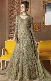 latest green gown dress online india