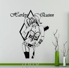 aliexpress com buy harley quinn sticker wall decor movie poster