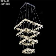 Square Chandelier 2018 New Modern Square Chandelier Rectangle Crystals Led L