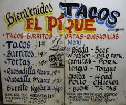 queens table food truck menu traditional mexican taco truck menu spanish fun for 3rd taco