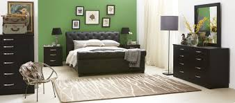 forty winks century luxurious modern studded leather bed and black