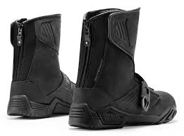 motorcycle riding boots icon raiden treadwell waterproof leather dual sport motorcycle