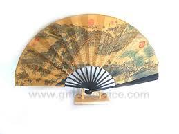 wooden fans fan stand