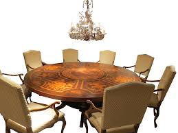 f116 round dining table with inlaid top traditional dining room