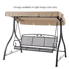 Garden Winds Replacement Swing Canopy by Replacement Canopy For Jefferson 3 Person Swing Beige Garden Winds