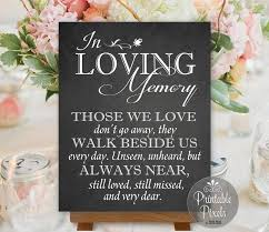 in loving memory wedding in loving memory in honor remembrance chalkboard printable wedding