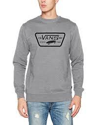 vans sweater vans s patch crew sweatshirt amazon co uk clothing