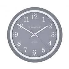 thomas kent breton wall clock charcoal grey black by design