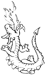 free printable coloring pages kids dragon happy
