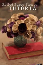 paper flower centerpieces rolled paper flower tutorial using book pages a coat rack