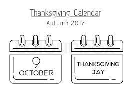 thanksgiving calendar line icon set canadian thanksgiving 2017
