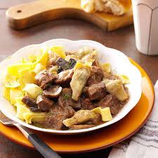 artichoke beef stew recipe taste of home