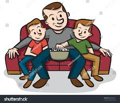 Couch Cartoon Sitting On Couch Dad Stock Vector 388265017 Shutterstock