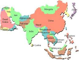 asain map asia map with country names travel maps and major tourist