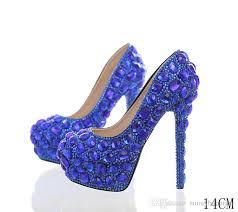 wedding shoes cork royal diamond women pumps crystals rhinestones bridesmaid wedding