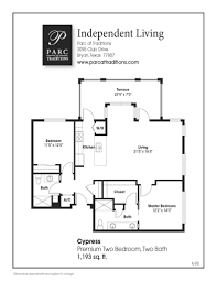 2 bedroom floor plans apartment home features parc at traditions
