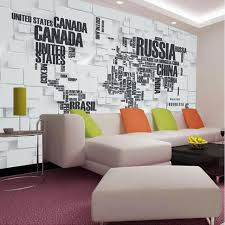 aliexpress com buy great wall 3d map of the world wallpaper