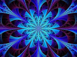 Blue Kaleidoscope Wallpaper | blue kaleidoscope fractal hd desktop wallpaper fractal art
