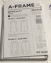A Frame Blueprints It U0027s Sewing Indie Month And National Sewing Month C Sews