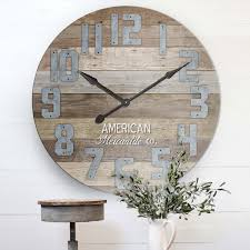 huge barn wood clock american mercantile vintage inspired