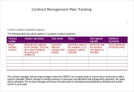 Change Management Plan Template Excel Contract Tracking Template 10 Free Word Excel Pdf Documents