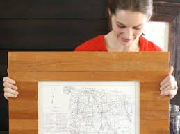 how to build a picture frame using reclaimed oak floorboards diy