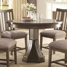 vintage slate gray and nickel circle dining table