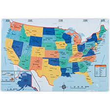map us quiz united states placemat us map on front with quiz on