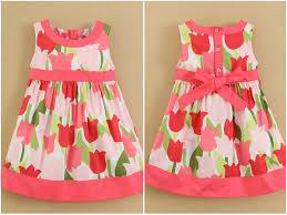 infant and todder girls plain cotton dress children wear summer