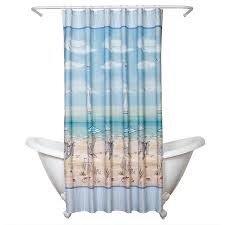 Winter Scene Shower Curtain by Amazon Com Zenna Home India Ink Seaside Serenity Shower Curtain