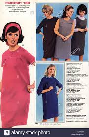 used maternity clothes 1960s uk maternity clothes catalogue brochure plate stock photo