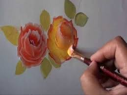 How To Paint A Glass Vase With Acrylic Paint Best 25 Rose Paintings Ideas On Pinterest Rose Oil Painting