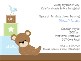 teddy baby shower invitations baby shower invitations blue