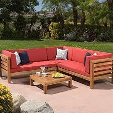 amazon com ravello outdoor patio furniture 4 piece wooden