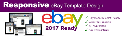 ebay template design responsive ebay listing template no active content 2017 ready