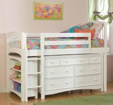 elenora white twin mid high loft bed